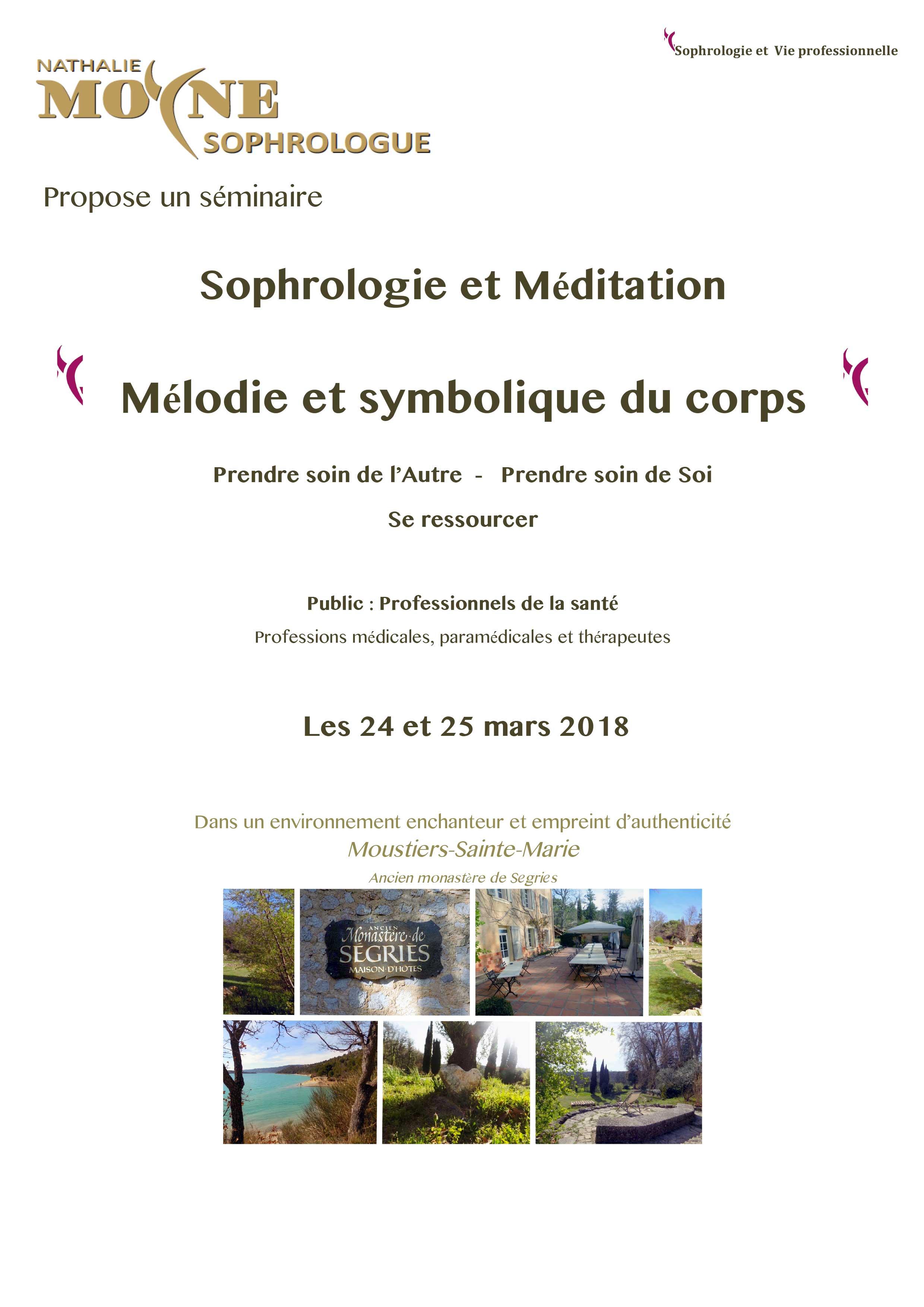 Séminaire Sophrologie et Méditation Mélodie et symbolique du corps